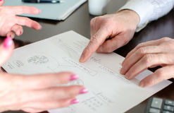 Business people at work Stock Photography