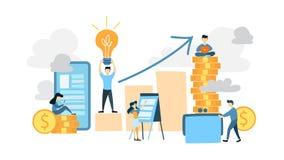 business people working διανυσματική απεικόνιση