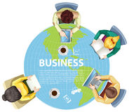 Business people working around the world Stock Photos