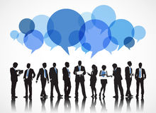 Business People Working Communication Speech Bubble Concept Royalty Free Stock Photography
