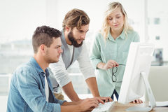 Business people working on computer Royalty Free Stock Photos