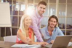 Business people working in creative office Stock Photos