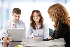 Business people working in group Royalty Free Stock Images