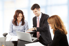 Business people working in group Royalty Free Stock Photos
