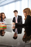 Business people working in group Stock Photography