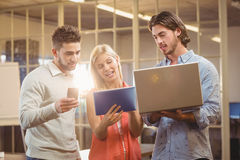 Business people working with the help of technologies Royalty Free Stock Images