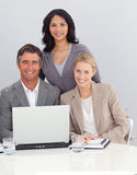 Business people working with a laptop Royalty Free Stock Photo