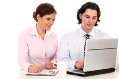 Business people working on laptop Stock Photography