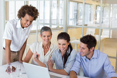 Business people working on a laptop Royalty Free Stock Image