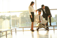 Business People working on a laptop. Team work Royalty Free Stock Photography