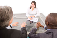 Business people in a working meeting Royalty Free Stock Photos