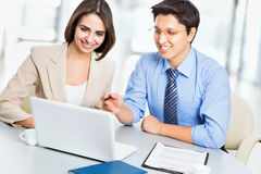 Business people working at meeting Stock Photo