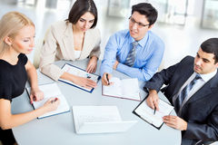 Business people working at meeting Royalty Free Stock Images