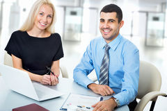 Business people working at meeting Stock Image
