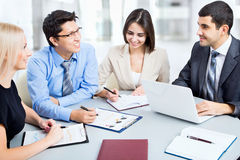 Business people working at meeting Royalty Free Stock Photos