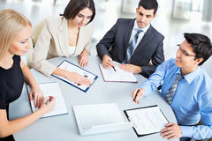 Business people working at meeting Royalty Free Stock Photo