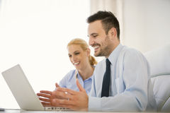 Business people working at meeting in office Stock Image