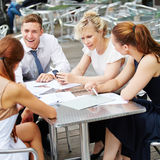 Business people working in meeting Stock Photo