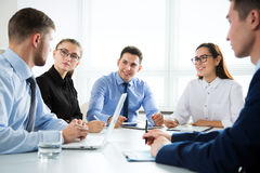 Business people working on new project Stock Image