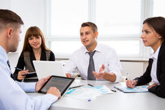 Business people working on new project Royalty Free Stock Photos