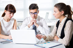 Business people working on new project Royalty Free Stock Image