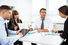 Business people working on new project Royalty Free Stock Photo