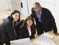Business People Working in Office Royalty Free Stock Photos