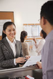 Business people working in the office Royalty Free Stock Photography