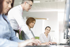 Business people working in office Stock Photography