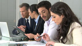 Business people working in office stock video footage