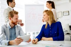 Business people working in office stock images