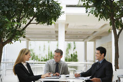 Business People Working At Office Cafe Royalty Free Stock Photography