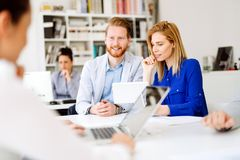 Business people working in office. And collaborating Stock Photos