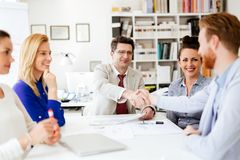 Business people working in office. And collaborating Stock Images