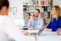 Business people working in office. And collaborating Stock Photo