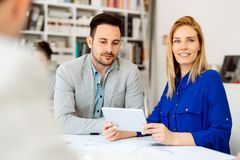 Business people working in office Stock Image