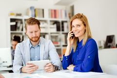 Business people working in office Royalty Free Stock Photo