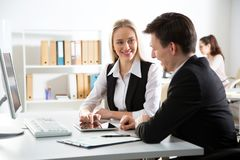Business people working in an office Royalty Free Stock Photo