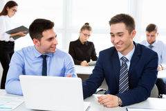 Business people working in an office Stock Photo