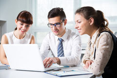 Business people working in an office Royalty Free Stock Image