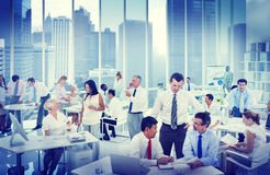Business People Working in an office Concept Royalty Free Stock Images