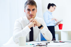 Business people working in the office with digital tablet. Stock Image
