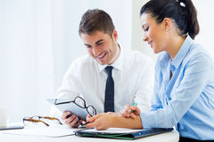 Business people working in the office with digital tablet. Royalty Free Stock Photo