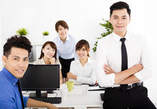 Business people working in the office. Happy business people working in the office Royalty Free Stock Photos