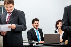 Business people working in office teamwork Stock Images