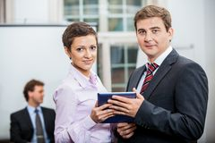 Business people working in office teamwork Stock Image