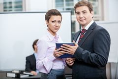 Business people working in office teamwork Royalty Free Stock Photo