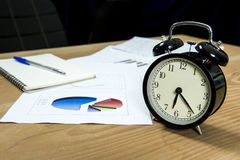 Business people working overtime Royalty Free Stock Photos