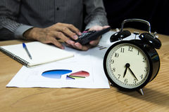 Business people working overtime Stock Photo