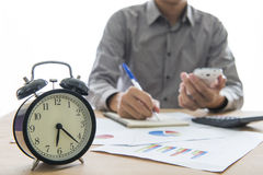 Business people working overtime Royalty Free Stock Photo